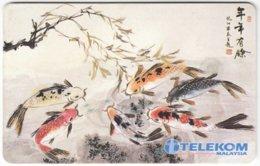 MALAYSIA A-621 Chip Telekom - Painting, Animal, Fish - Used - Malaysia