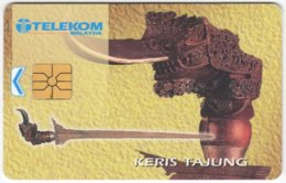 MALAYSIA A-626 Chip Telekom - Culture, Traditional Weapon - Used - Malaysia