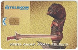 MALAYSIA A-627 Chip Telekom - Culture, Traditional Weapon - Used - Malaysia