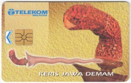 MALAYSIA A-629 Chip Telekom - Culture, Traditional Weapon - Used - Malaysia