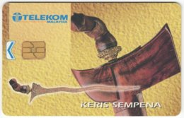 MALAYSIA A-630 Chip Telekom - Culture, Traditional Weapon - Used - Malaysia
