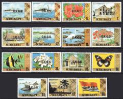 Kiribati 1981 OKGS Officials, No Watermark Set Of 15, MNH, SG O11/25 (BP2) - Kiribati (1979-...)