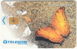 MALAYSIA A-633 Chip Telekom - Animal, Butterfly - Used - Malaysia