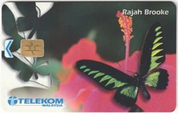 MALAYSIA A-635 Chip Telekom - Animal, Butterfly - Used - Malaysia