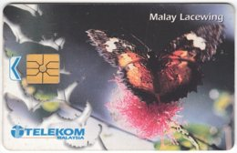 MALAYSIA A-636 Chip Telekom - Animal, Butterfly - Used - Malaysia