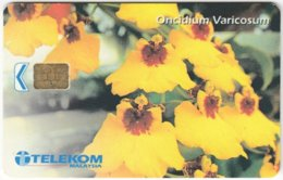 MALAYSIA A-637 Chip Telekom - Plant, Flower - Used - Malaysia