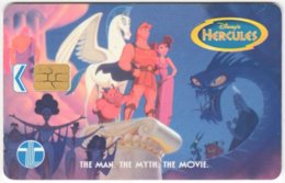 MALAYSIA A-654 Chip Telekom - Cinema, Walt Disney, Hercules - Used - Malaysia