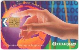 MALAYSIA A-660 Chip Telekom - Map, Globe - Used - Malaysia