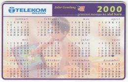 MALAYSIA A-678 Chip Telekom - Calendar 2000 - Used - Malaysia