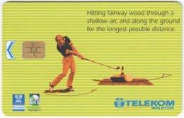 MALAYSIA A-684 Chip Telekom - Sport, Golf - Used - Malaysia