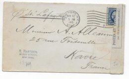 1915 - USA - ENVELOPPE De NEW YORK Avec CENSURE FRANCAISE  => LE HAVRE - Covers & Documents