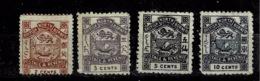 Bornéo Du Nord,  TP N° 36, 37, 39 Et 42 - North Borneo (...-1963)