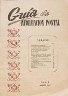España. Bibliografía. (1954ca). Conjunto De Catorce Revistas GUIA DE INFORMACION POSTAL Editadas Entre Agosto De 1954 Y - Sellos