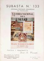 España. Bibliografía. 1973. SUBASTA Nº133, COLONIAS ESPAÑOLAS. José A.Vicenti. Madrid, 1973. - Sellos