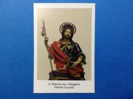 Santino Holy Card Image Pieuse S Giacomo Ap Il Maggiore Lauria - Santini