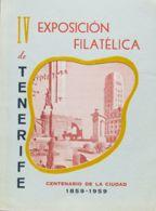 """España. Bibliografía. 1959. Catálogo De La IV EXPOSICION FILATELICA DE TENERIFE """"Centenario De La Ciudad 1859-1959"""", Cel - Sellos"""