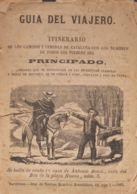 España. Bibliografía. 1862. GUIA DEL VIAJERO, ITINERARIO DE LOS CAMINOS Y VEREDAS DE CATALUÑA CON LOS NOMBRES DE TODOS L - Sellos