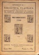 España. Bibliografía. (1941ca). Conjunto De Veinte Suplementos De La Revista BIBLIOTECA FILATELICA, Correspondientes A L - Sellos