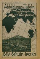 España. Bibliografía. 1930. Catálogo Subasta ABBILDUNGS-TAFELN, WELT-AUKTION, Celebrada Desde El 13 Al 23 De Enero De 19 - Sellos