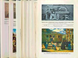 España. Bibliografía. (1978ca). BOLETIN DE LA ACADEMIA IBEROAMERICANA DE HISTORIA POSTAL. Boletines Nº122 Al 129, 134 Al - Sellos