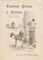 España. Bibliografía. 1974. CAMINOS, POSTAS Y CORREOS (ENSAYO PARA UNA HISTORIA DEL CORREO EN NAVARRA). Luis María Marín - Sellos