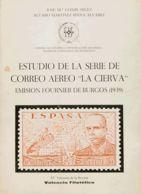 """España. Bibliografía. 1970. ESTUDIO DE LA SERIE DE CORREO AEREO """"LA CIERVA"""" EMISION FOURNIER DE BURGOS (1939). José Marí - Sellos"""