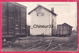79 - VAUSSEROUX----La Gare---Publicité Bouillon KUB - France