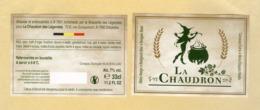 1 étiquette+CE Bière La Chaudron - Beer