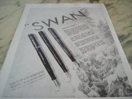 ANCIENNE PUBLICITE DONNEZ UN   SWAN 1931 - Andere Verzamelingen
