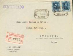 España. Alfonso XIII Correo Certificado. Alfonso XIII Correo Certificado. Al Dorso Llegada. MAGNIFICA. - 1889-1931 Reino: Alfonso XIII
