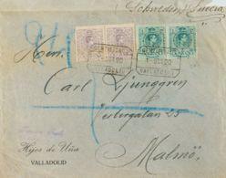 España. Alfonso XIII Correo Certificado. Sobre 290(2), 268(2). 1920. 20 Cts Violeta (litografiado), Pareja Y 5 Cts Verde - 1889-1931 Reino: Alfonso XIII