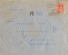 España. Alfonso XIII Correo Certificado. Sobre 278. 1922. 1 Pts Carmín. Certificado De VALENCIA A LEIPZIG (ALEMANIA). Al - 1889-1931 Reino: Alfonso XIII