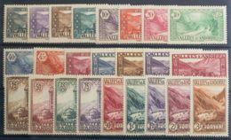 Andorra Francesa. MNH **24/45. 1932. Serie Completa, Veinticuatro Valores. MAGNIFICA. Yvert 2014: 925 Euros - Otros - Europa