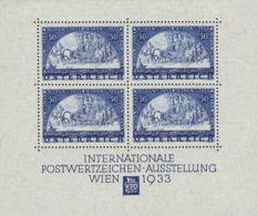 Austria, Hoja Bloque. MH *1. 1933. Hoja Bloque (los Sellos Sin Fijasellos). MAGNIFICA. Yvert 2011: 3.500 Euros - Otros - Europa