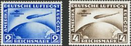 Alemania, Aéreo. MNH **38/39. 1930. Serie Completa. MAGNIFICA Y RARISIMA EN ESTA CALIDAD. Yvert 2011: 3.500 Euros - Alemania