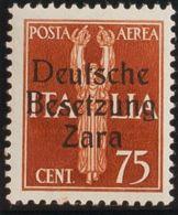 Zara, Aéreo. MNH **Yv 3. 1943. 75 Cts Castaño Amarillo (Tipo II). MAGNIFICO Y RARO. (Sassone 3 II) Yvert 2013: 675 Euros - Sellos