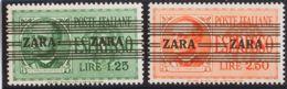 Zara. MNH **Yv 24/25. 1943. Serie Completa. MAGNIFICA. (Mi37/38 325 Euros) - Sellos