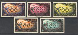 Yemen. MNH **Yv 84/88. 1960. Serie Completa. SIN DENTAR. MAGNIFICA. - Yemen