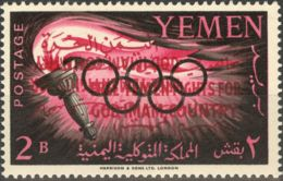 Yemen. MNH **Yv 134. 1962. 2 B. SOBRECARGA DOBLE Y UNA INVERTIDA. MAGNIFICO Y MUY RARO. - Yemen