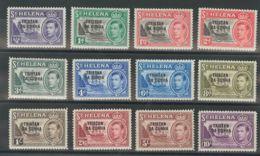 Tristán Da Cunha. MH *Yv 1/12. 1952. Serie Completa. MAGNIFICA. (SG1/12 140£) Yvert 2010: 175 Euros. - Tristan Da Cunha