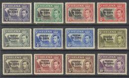 Tristán Da Cunha. MH *Yv 1/12. 1952. Serie Completa. MAGNIFICA. Yvert 2010: 175 Euros. - Tristan Da Cunha