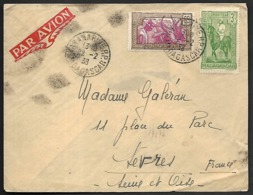 LC-119  Lettre De Madagascar De 1938 Timbres N°172 Et 186 - Brieven En Documenten