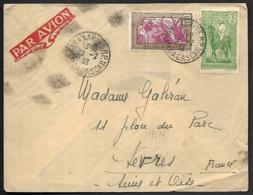 LC-119  Lettre De Madagascar De 1938 Timbres N°172 Et 186 - Madagaskar (1889-1960)
