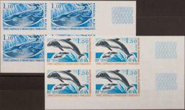 Tierras Australes-TAAF. MNH **Yv 64/65(4). 1977. Serie Completa, Bloque De Cuatro. SIN DENTAR. MAGNIFICO. (Maury 2011: 6 - Tierras Australes Y Antárticas Francesas (TAAF)