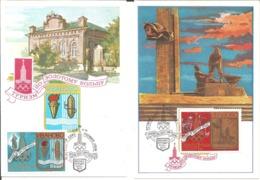 1977 2ème Série Préolympique URSS :Jeux Olympiques De Moscou: 6 Cartes -maxi. - Verano 1980: Moscu