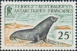 Tierras Australes-TAAF. MNH **Yv 16. 1959. 25 F Multicolor. Valor Clave. MAGNIFICO. Yvert 2014: 142 Euros. - Sin Clasificación
