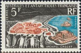 Tierras Australes-TAAF. MNH **Yv 20. 1963. 5 Fr Multicolor. MAGNIFICO. Yvert 2014: 92 Euros. - Sin Clasificación
