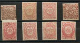 Terranova. MH/MNG */(*)Yv 13A/19. 1862. Serie Completa (6 P Carmín Yvert 16 Tonalizado). MAGNIFICA Y RARA. Yvert 2018: 9 - 1857-1861