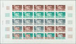 San Pedro Y Miquelón. MNH **Yv 407(25). 1970. 15 Fr Multicolor, Hoja Completa De Veinticinco Sellos. ENSAYOS DE COLOR Y - St.Pedro Y Miquelon