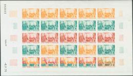 San Pedro Y Miquelón. MNH **Yv 409(25). 1970. 34 F Multicolor, Hoja Completa De Veinticinco Sellos. ENSAYOS DE COLOR Y S - St.Pedro Y Miquelon
